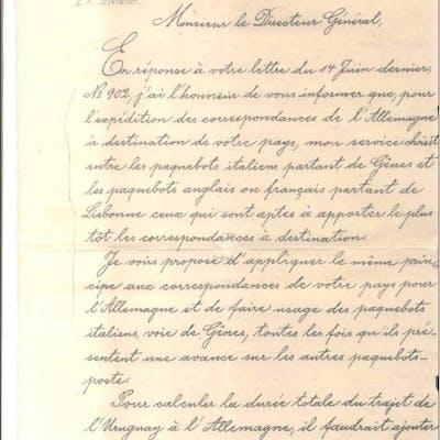 DEPARTEMENT DES POSTES DE L'EMPIRE D'ALLEMAGNE 12 JUILLET 1895 A MONSIEUR