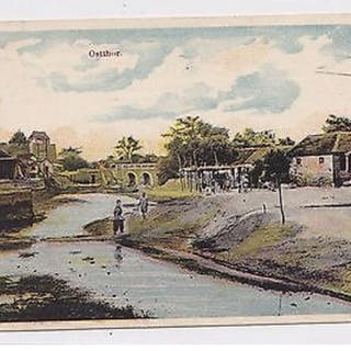 K 545  Kiautschou, Kaumi - Ostthor, 1909 gelaufen, Marke gelöst