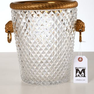 Baccarat style diamond cut champagne cooler