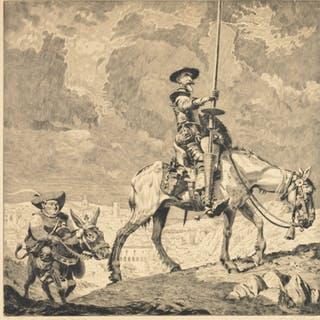 Carl Hachez, Don Quixote etching
