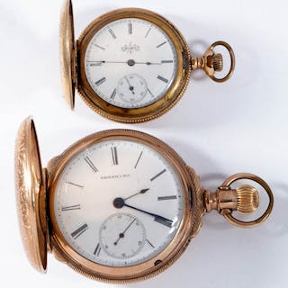 ASSORTED AMERICAN POCKET WATCHES, LOT OF TWO
