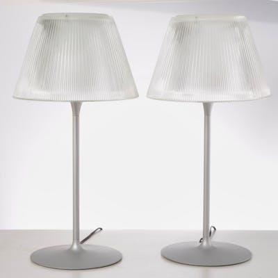 Pair Philippe Starck for Flos Romeo Moon lamps