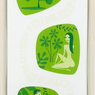 Shag, screenprint, Adam and Eve, 2004