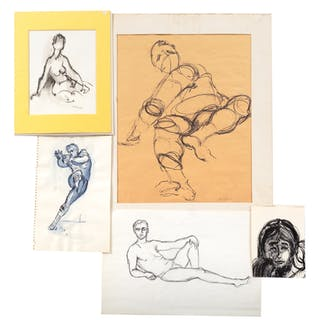 Ina Helrich. Five Assorted Figure Studies