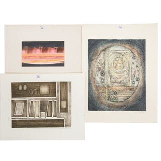 Ina Helrich. Six Assorted Unframed Artworks