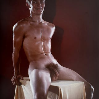 Large Bruce Bellas Nude Male Physique Photo - Bruce Bellas (1909-1974)