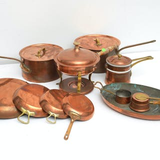 Collection Bazar Francais copper cookware