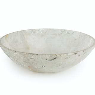 A rock crystal centerpiece bowl