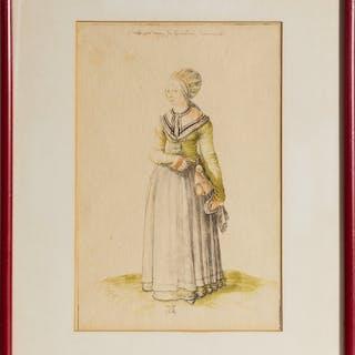 Albrecht D�rer, Nuremberg Woman in a House Dress, Offset Lithograph