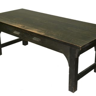 AMERICAN ARTS & CRAFTS PERIOD LIBRARY TABLE