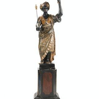 A Venetian standing Blackamoor figure