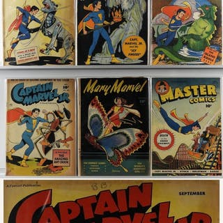 6PC Fawcett Captain Marvel Jr. Master Comics Mary