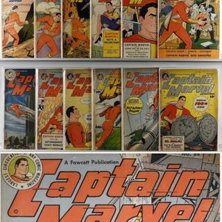 12PC Fawcett Captain Marvel Golden Age Comic Group