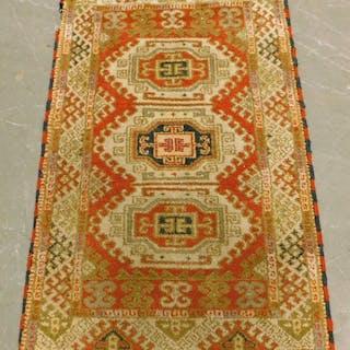 Caucasian Oriental Geometric Carpet Rug