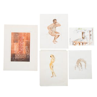Ina Helrich. Five Assorted Works on Paper