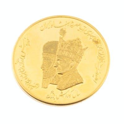 An Iranian gold coin | Barnebys