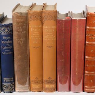 (7) TITLES IN (9 VOLS) BOOKS ON INDIA & BURMA