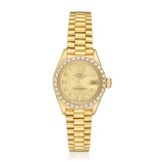 Rolex Ladies' Datejust President in 18K Gold