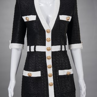Balmain Paris boucle tweed mini dress