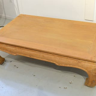 Michael Taylor style limed oak coffee table