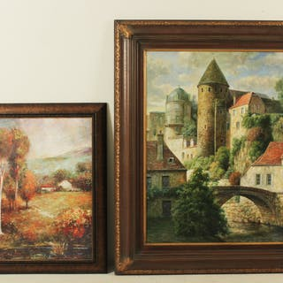 MISC. LOT OF 2 OIL PAINTINGS