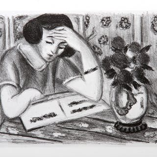 Henri Matisse, Jeune Fille Lisant, Offset Lithograph