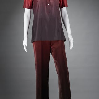 Roberta di Camerino ombre print pant outfit