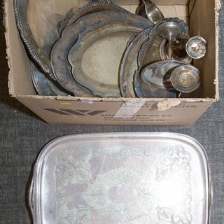 Box of Silver-plated Items