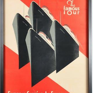 Hugo Koeke, Hamburg-American Line steamship poster