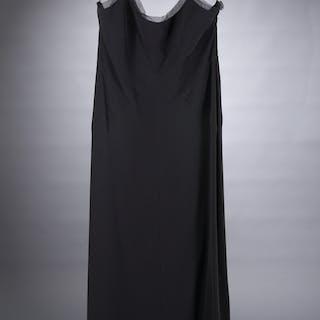 Giorgio Armani black crepe evening gown