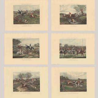 After Henry Alken Engravings [Steeple Chase]