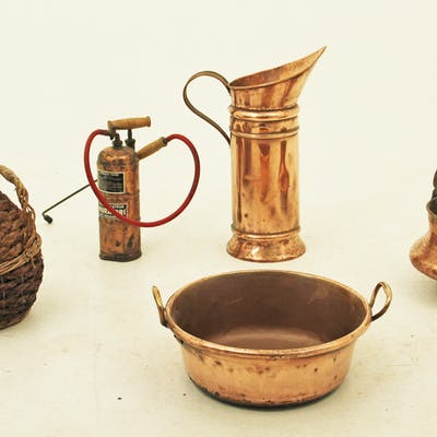 5 PC. MISC. LOT INCLUDING COPPER