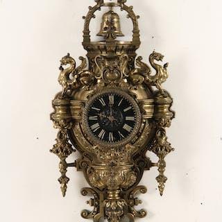 FRENCH BRONZE CARTEL CLOCK