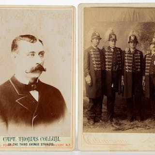 CHARLES EISENMANN, NEW YORK CABINET CARDS, LOT OF TWO