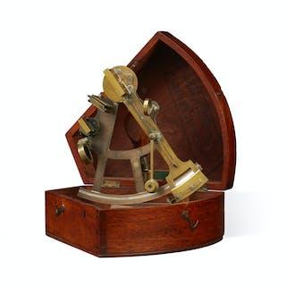 A Nugent Wells brass sextant