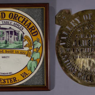 WINCHESTER, SHENANDOAH VALLEY OF VIRGINIA APPLE ADVERTISING ITEMS, LOT OF TWO