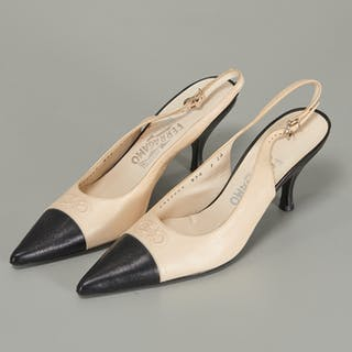 Salvatore Ferragamo slingback pointed-toe pumps