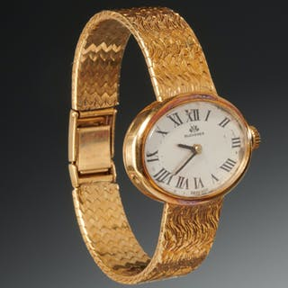 Bucherer ladies 18k gold watch