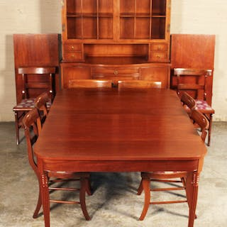 10 PC. CHERRY DINING ROOM SUITE