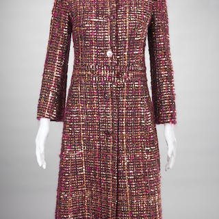 Tuleh tweed and gold sequin coat