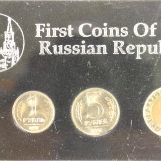 1991 1ST  COINS OF THE RUSSIAN REPUBLIC SET