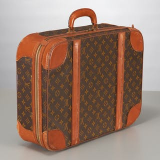 Vintage Louis Vuitton monogram canvas suitcase