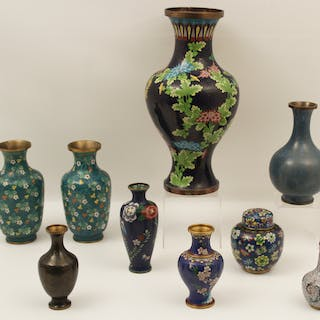 9 PC. LOT OF CLOISONNE
