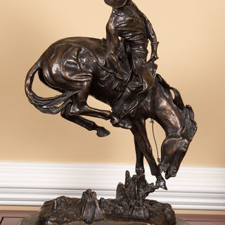 After Frederic Remington. Outlaw, Bronze