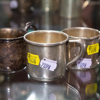 A Trio of Sterling Baby Cups