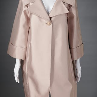 St. John lilac satin evening coat