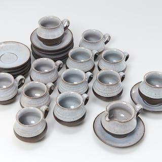 Henrik Ditlev Danish pottery demitasse set