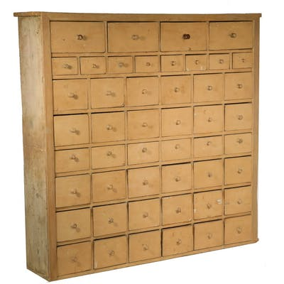 APOTHECARY CABINET WITH MULTI DRAWERS