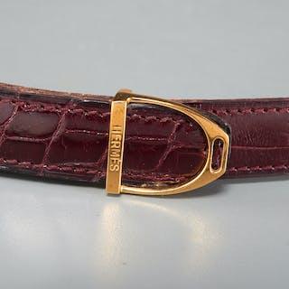Hermes 24mm stirrup buckle reversible belt