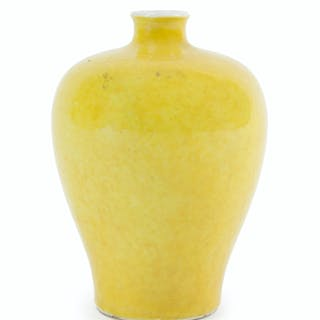A Chinese yellow vase